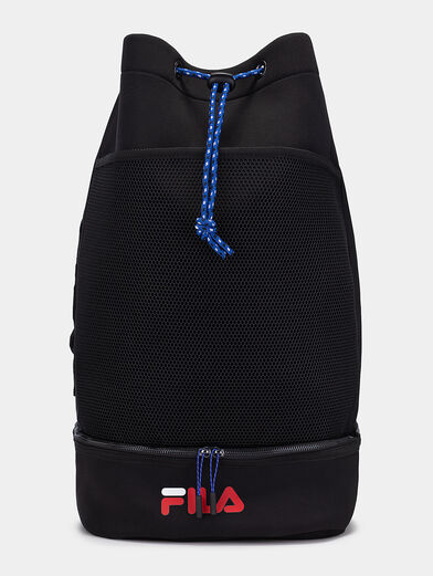 Black backpack with logo - 1