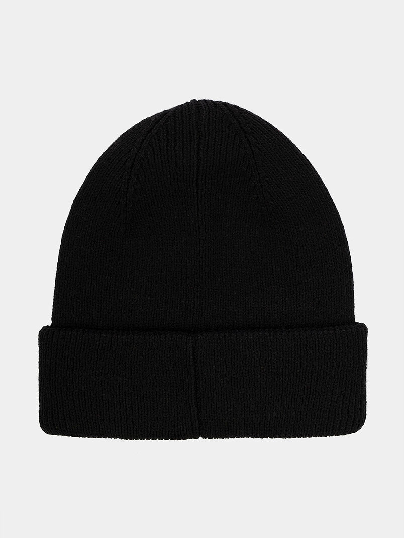 Unisex hat in black with logo patch - 3