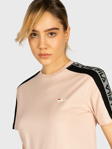 TAMSIN T-shirt with contrasting logo print - 2