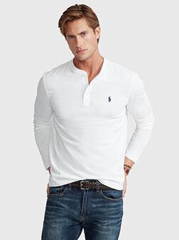 Блуза с лого бродерия - 1