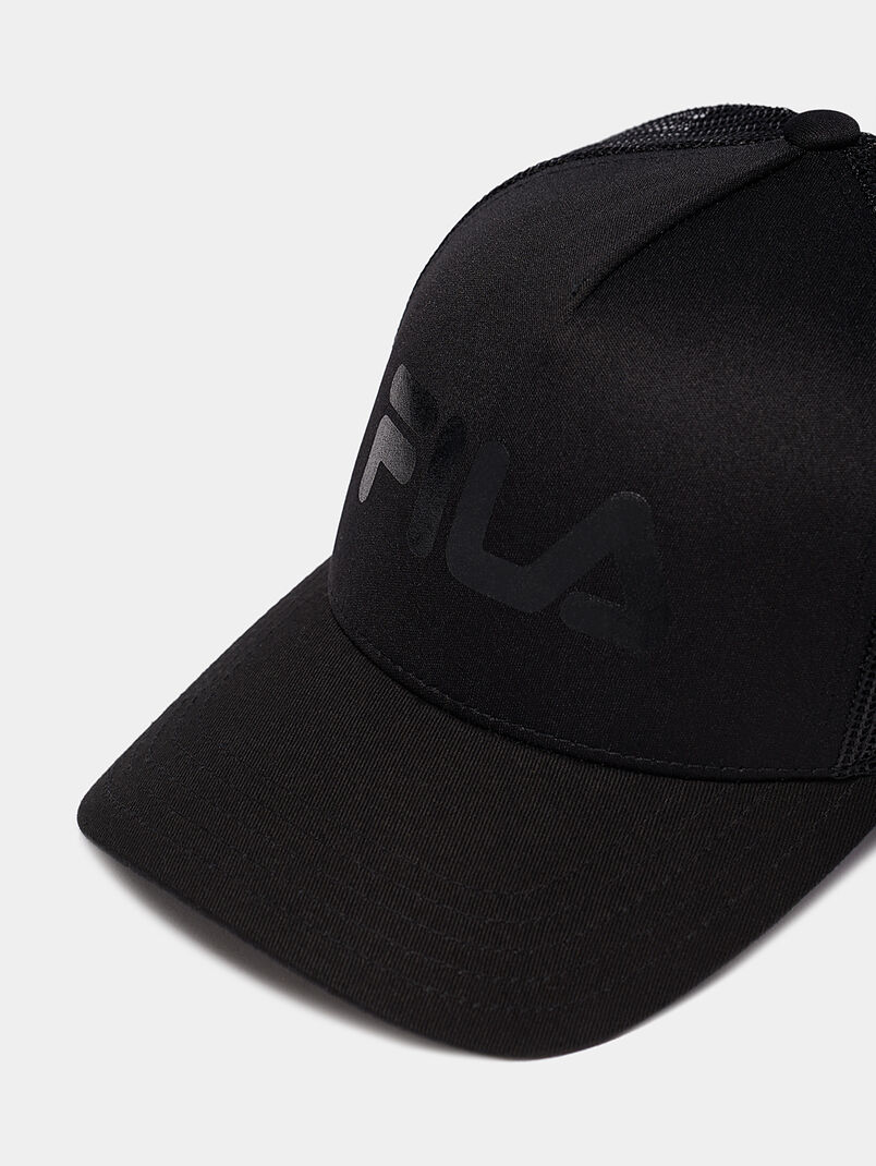 Black cap with logo print - 3