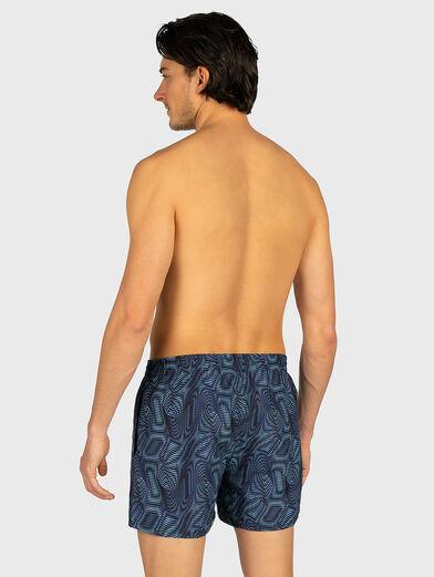 Beach shorts with logo inscription - 2