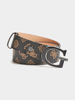 DALMA Belt with peony logo print - 1