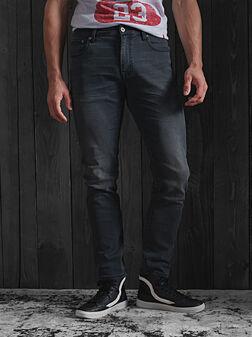 Прави дънки в черен цвят - 1