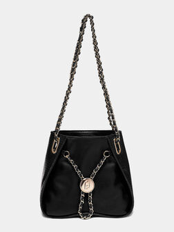 Черна чанта с метални елементи - 1