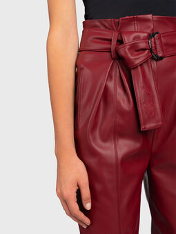 Faux leather pant - 3