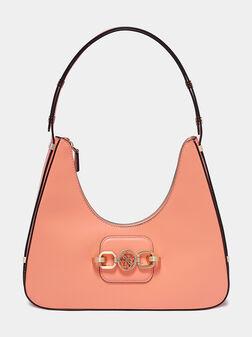 Чанта HENSELY HOBO в цвят корал - 1