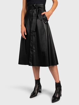 Faux leather skirt with high wiast - 1