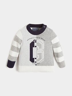 Pullover with logo print - 1