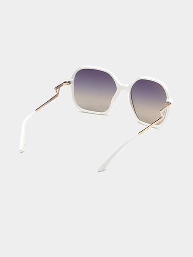 Square white sunglasses - 5