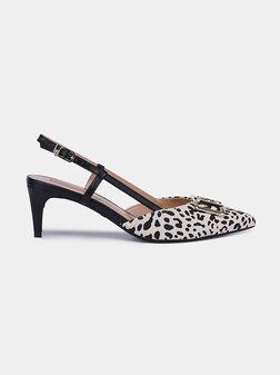 Обувки KATIA 6 с животински принт - 1