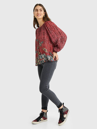 BUTTERFLY Blouse with puff sleeves - 2