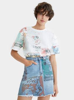 Denim skirt - 1