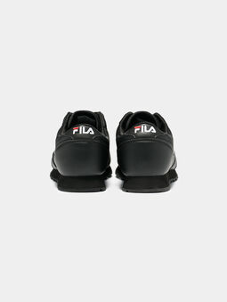 ORBIT JOGGER LOW Black sneakers with logo embroideries - 4
