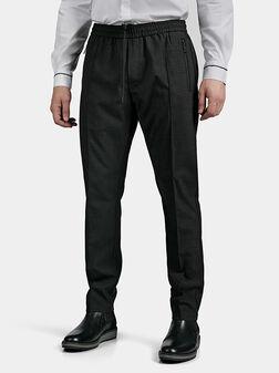 Сив панталон с меланж ефект - 1