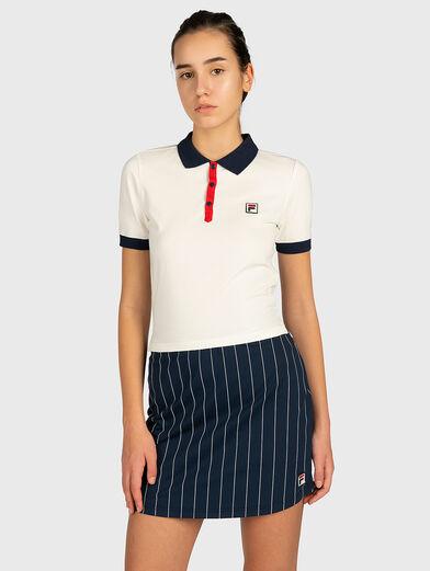 HATEYA Polo-shirt with contrasting collar  - 1