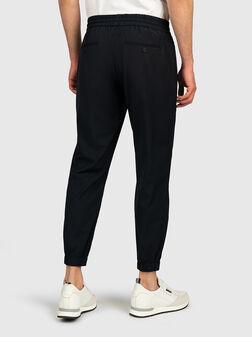 Панталон с еластични детайли в син цвят - 1