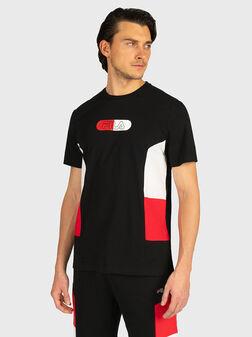 Тениска с контрастен лого принт - 1