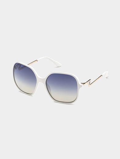Square white sunglasses - 1
