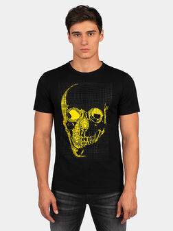 Cotton T-shirt with contrasting print - 1