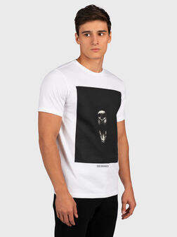 White t-shirt with print - 1