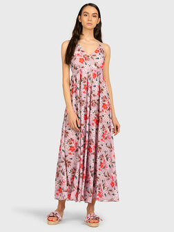 Long dress with floral print - 1