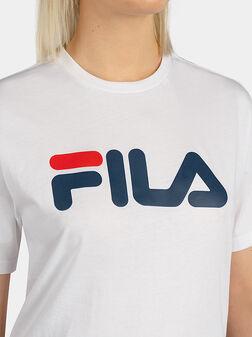 Унисекс тениска с лого принт - 1