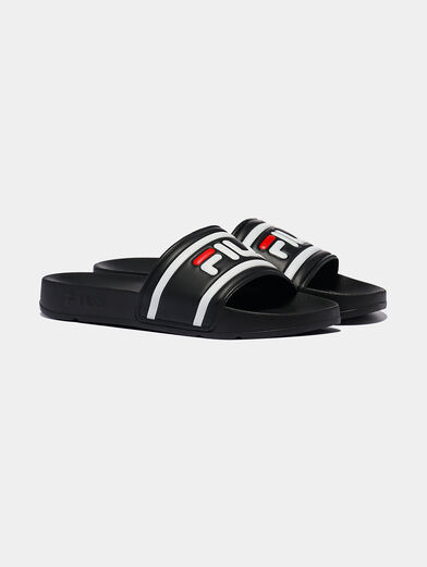 MORRO BAY Black slippers with logo - 2