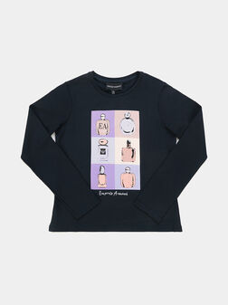 T-shirt with long sleeves and print - 1