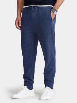 Спортен панталон в син цвят - 1