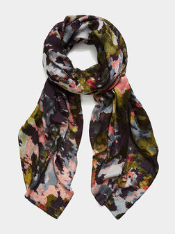 Scarf with multicolor print - 1
