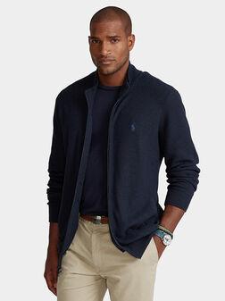 Cotton cardigan with zip - 1