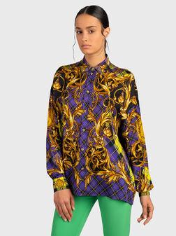 Стилна риза с бароков принт - 1