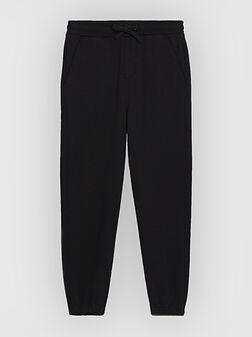 Black cotton joggers - 1