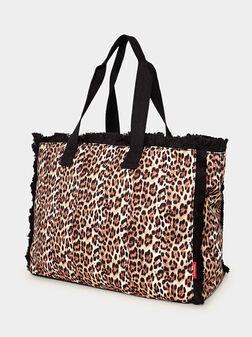 Чанта с леопардов принт - 1
