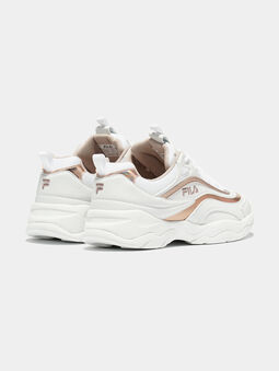 RAY M White sneakers with rose gold accents - 3