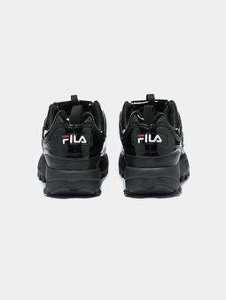 DISRUPTOR P Patent look black sneakers - 4