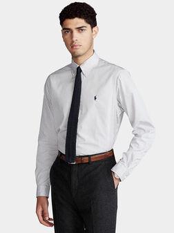 Shirt with grey stripe - 1