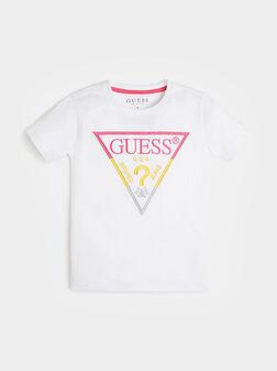 Унисекс тениска с многоцветно лого - 1