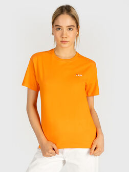 Памучна тениска EARA с лого бродерия - 1