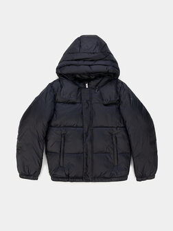 Padded jacket with removable hood - 1