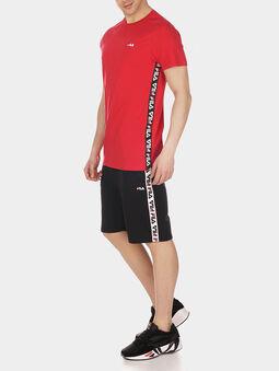 TALAN Red T-shirt with logo branding - 5