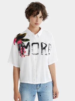 Риза AMORE с графити надпис - 1