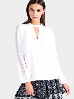 Блуза SAVANNA с апликирани камъни - 1