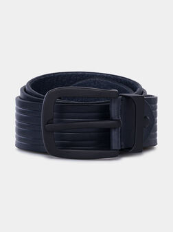Кожен колан в тъмно син цвят - 1