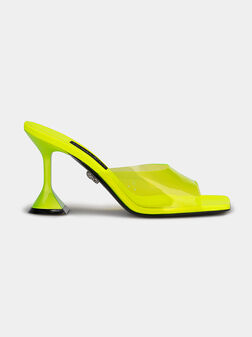 Leather sandals with transparent strap - 1