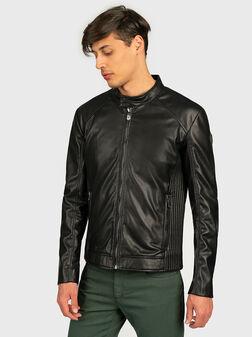 Faux leather biker jacket - 1