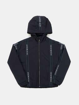 Jacket with hood and logo details - 1