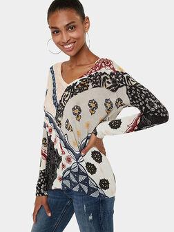 V-neck sweater - 1