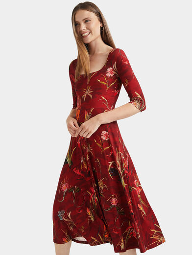 FLOWERS Dress with floral motifs - 3